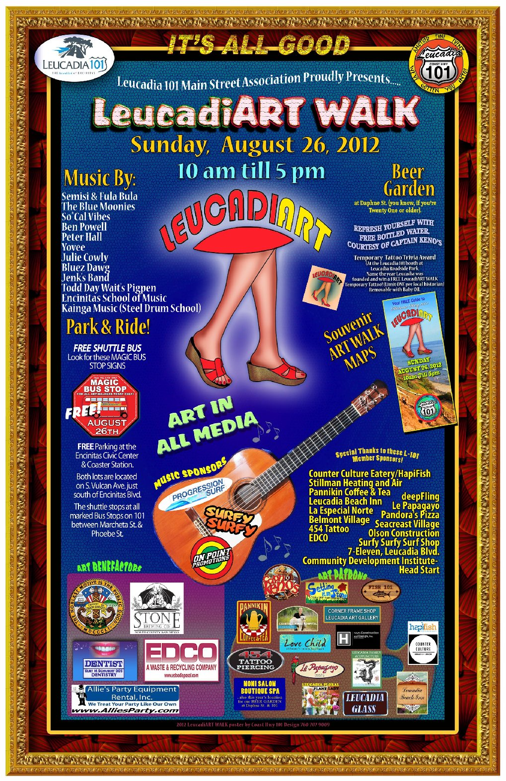 Encinitas 101 Mainstreet Association: Artwalk 2012…SUNDAY SUNDAY!!